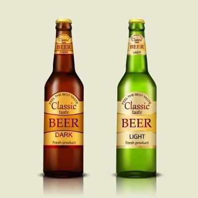 Beer bottle label