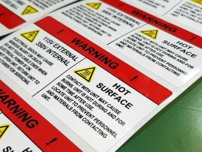 Electrical Warning Label